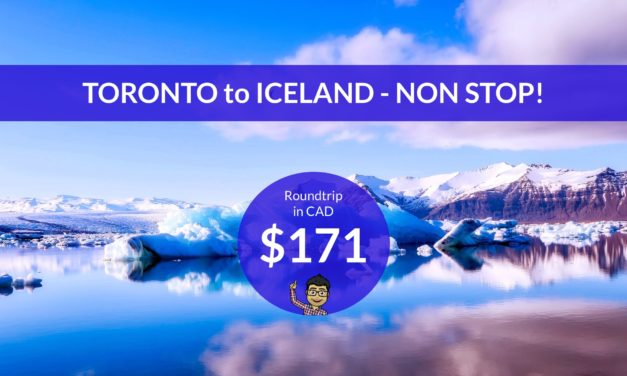 [EXPIRED DEAL] – NEW LOW: $171 CAD Roundtrip – TORONTO to ICELAND NONSTOP w PROMO CODE
