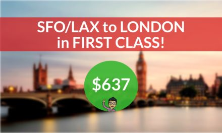 [EXPIRED DEAL] – ERROR FARE in FIRST CLASS – San Francisco or Los Angeles to London on Air France – $637 One Way or $1522 Roundtrip!