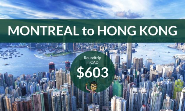 $603 CAD Roundtrip – MONTREAL to HONG KONG on United Airlines