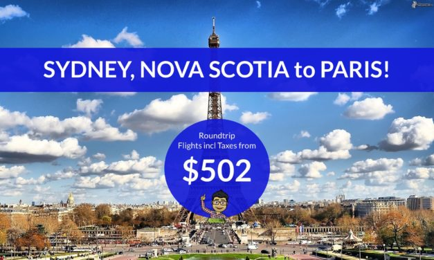 [EXPIRED DEAL] – $502 CAD Roundtrip – SYDNEY, NOVA SCOTIA to PARIS on WESTJET
