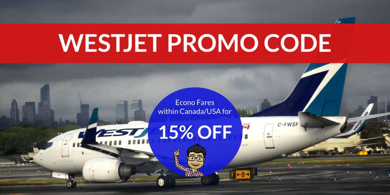 [EXPIRED DEAL] – TODAY ONLY: 15% off WestJet Econo Fares within Canada/USA